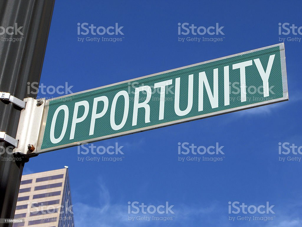 Road Sign: Opportunity royalty-free stock photo