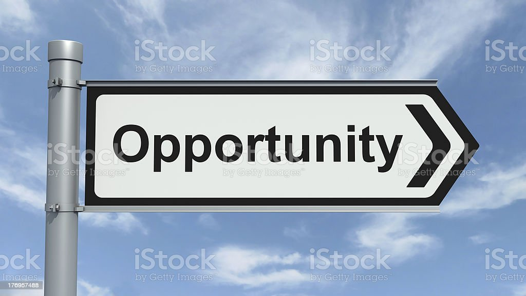 Road Sign - Opportunity royalty-free stock photo