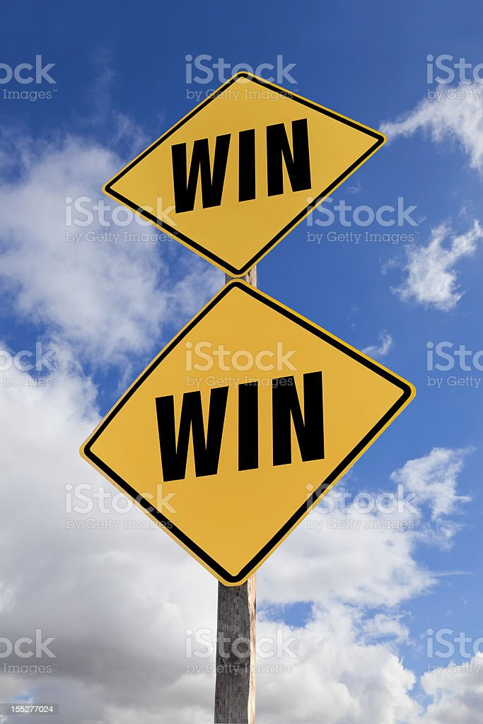 WIN Road Sign royalty-free stock photo