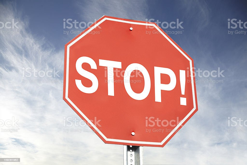 STOP! Road Sign royalty-free stock photo