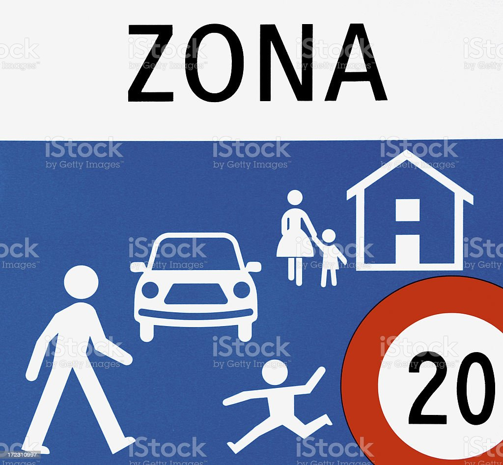 Road sign (limit speed) royalty-free stock photo