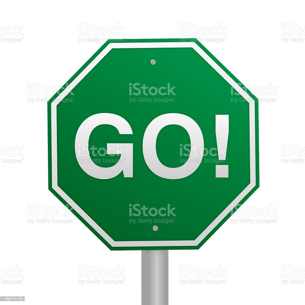 GO Road Sign royalty-free stock photo