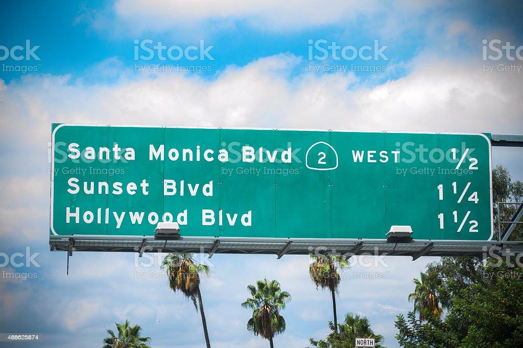 LA Road Sign stock photo