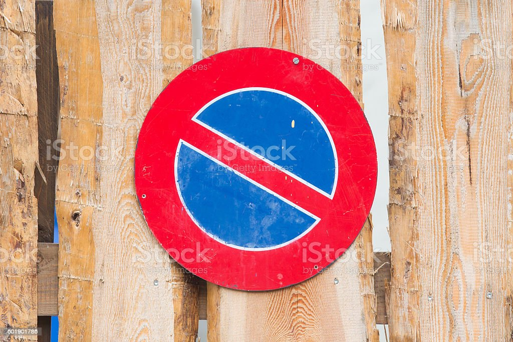 Road sign, prohibitory sign - No parking stock photo