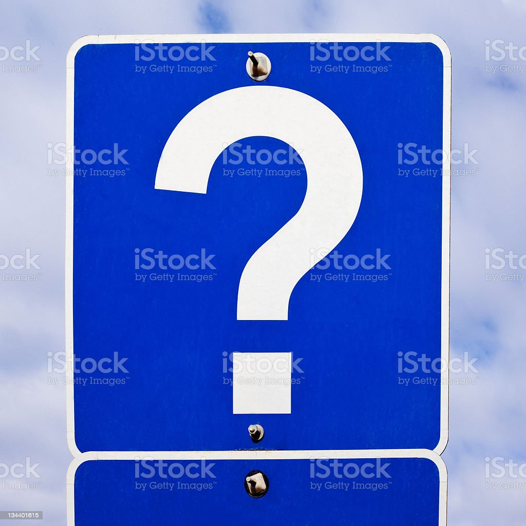 Road Sign: Question Mark royalty-free stock photo