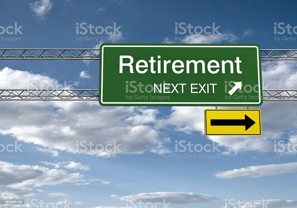 Road Sign - Retirement with Clipping Path royalty-free stock photo