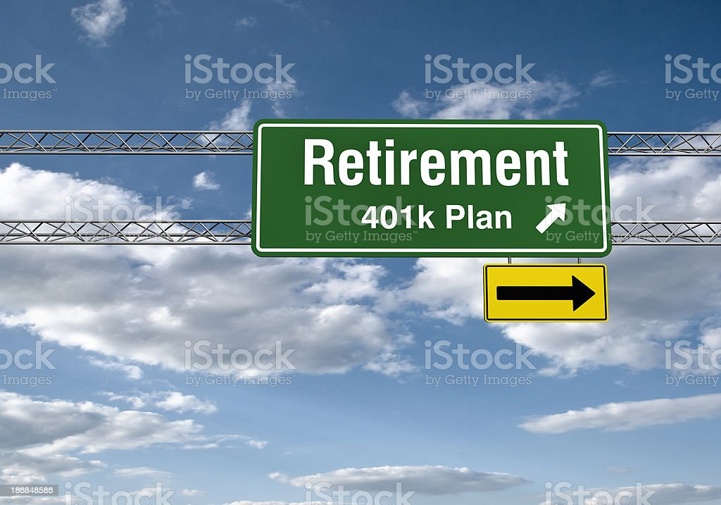Road Sign - Retirements royalty-free stock photo