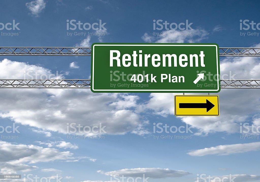 Road Sign - Retirements stock photo