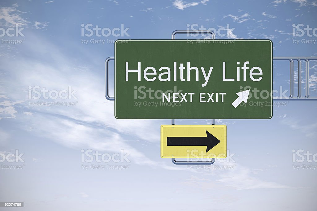 Road Sign Series - Healthy Life royalty-free stock photo