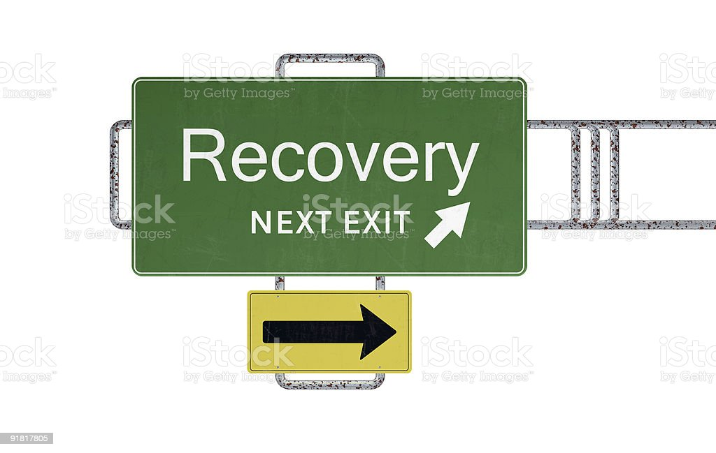 XXXL Road Sign Series - RECOVERY royalty-free stock photo