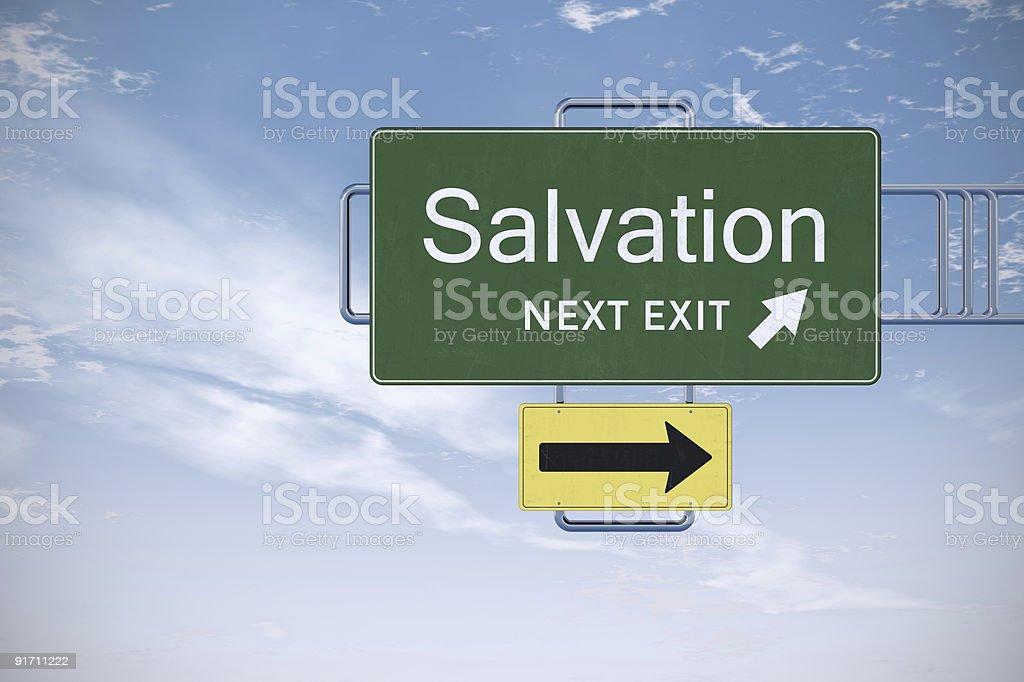 XXXL Road Sign Series - SALVATION royalty-free stock photo
