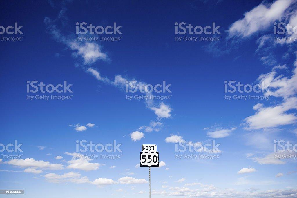 road sign sky stock photo