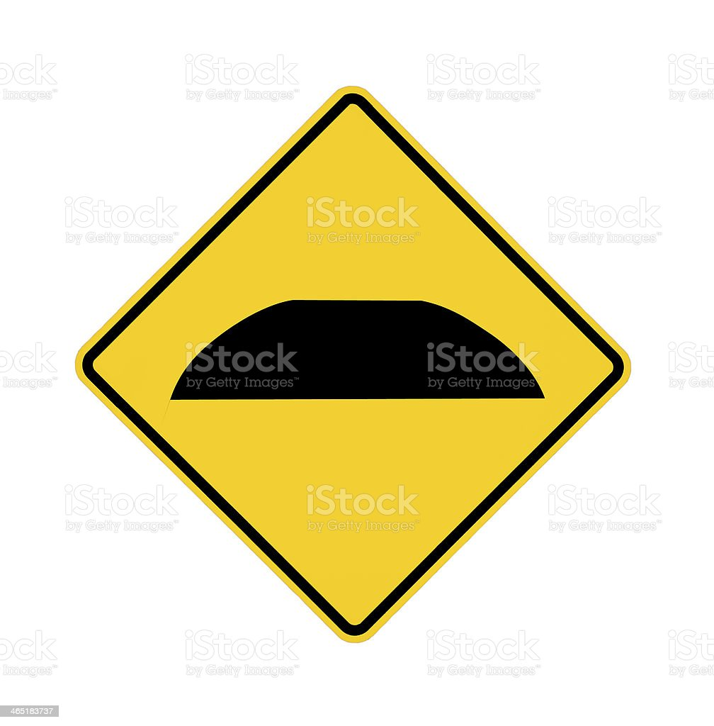 road sign - speed bump royalty-free stock photo