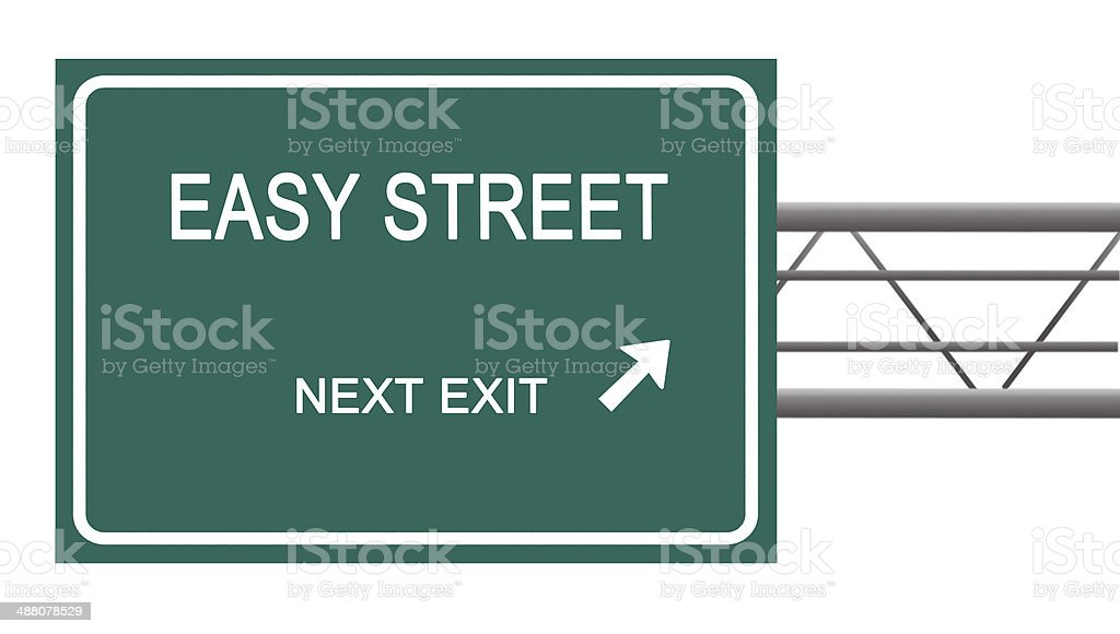 Road sign to  easy street royalty-free stock photo