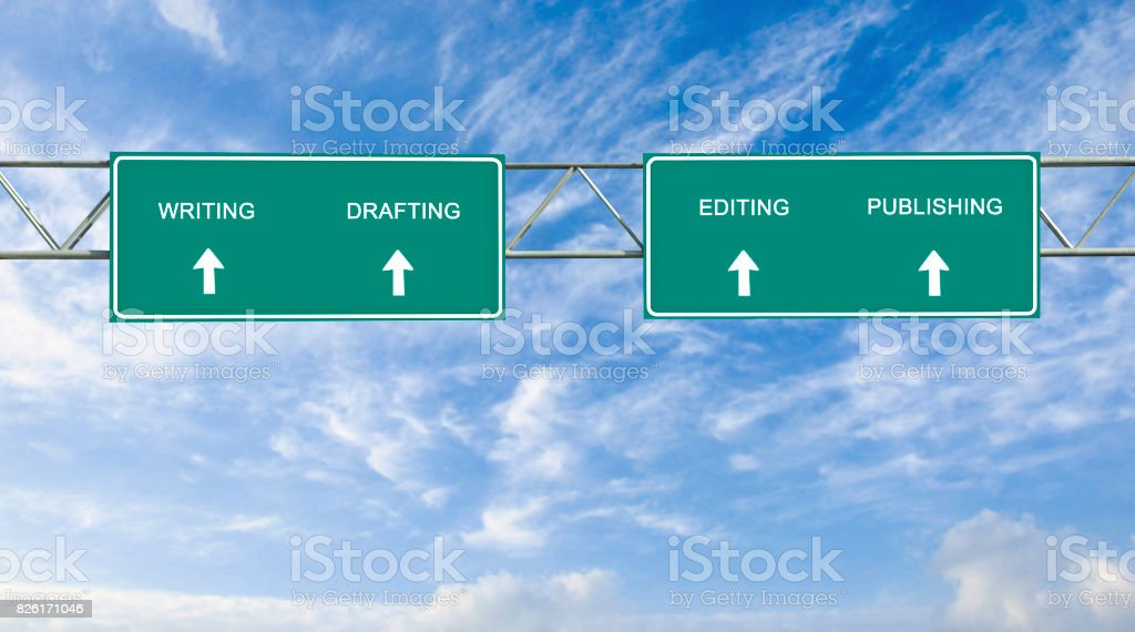 road sign to publishing stock photo