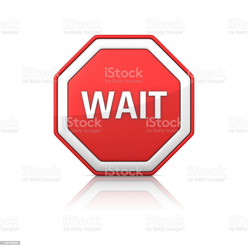 Road Sign - WAIT royalty-free stock photo