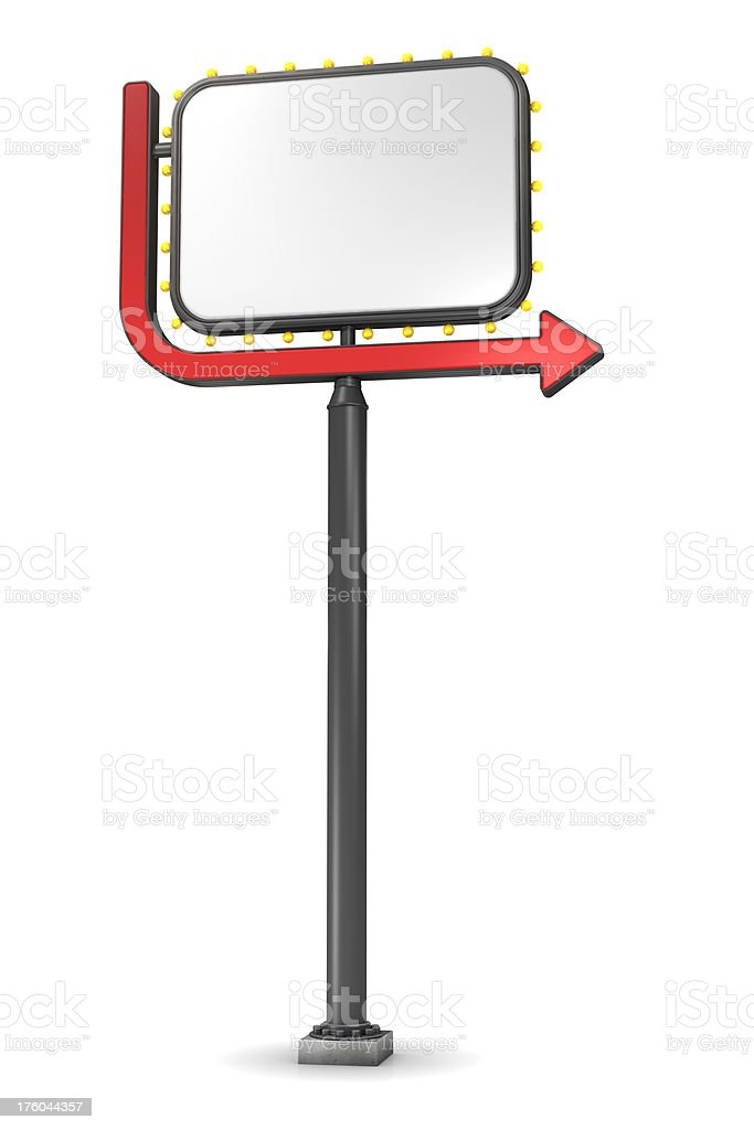 Road sign with arrow stock photo