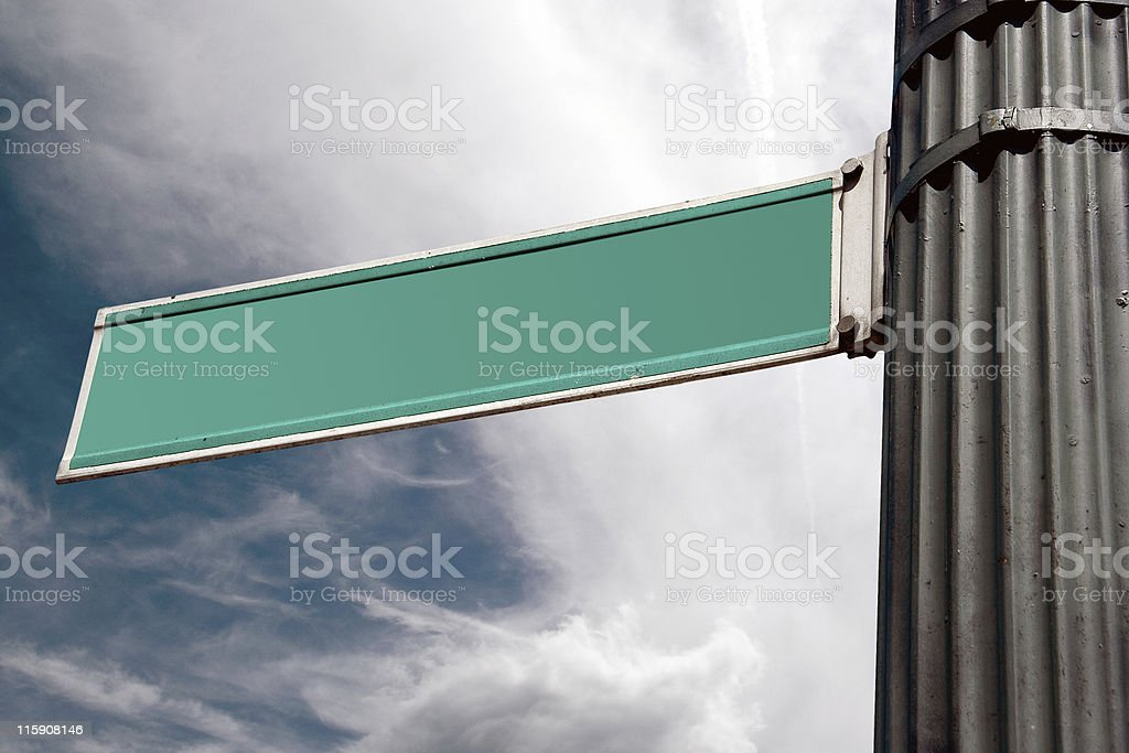 Road Sign with Copy Space royalty-free stock photo
