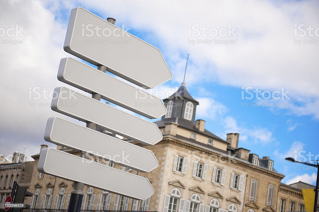 Road sign with no words royalty-free stock photo