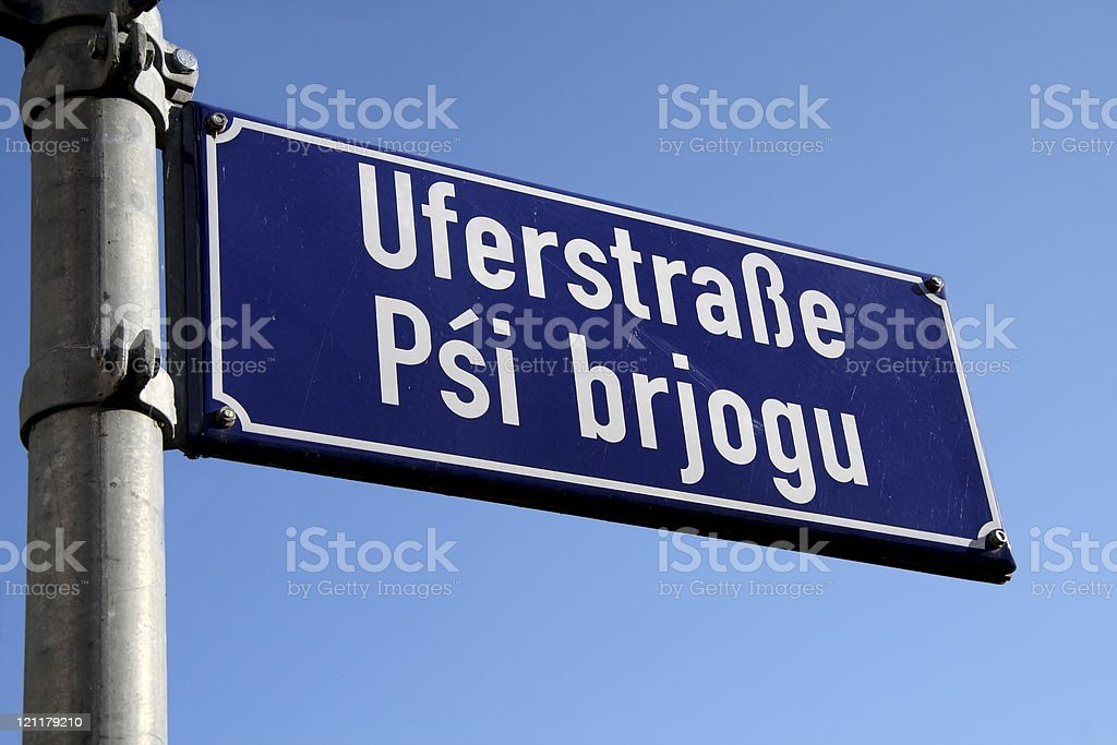Road Sign with Street name royalty-free stock photo