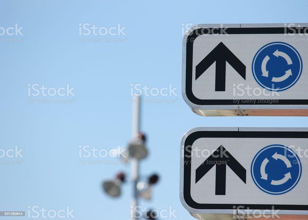 Road signals stock photo