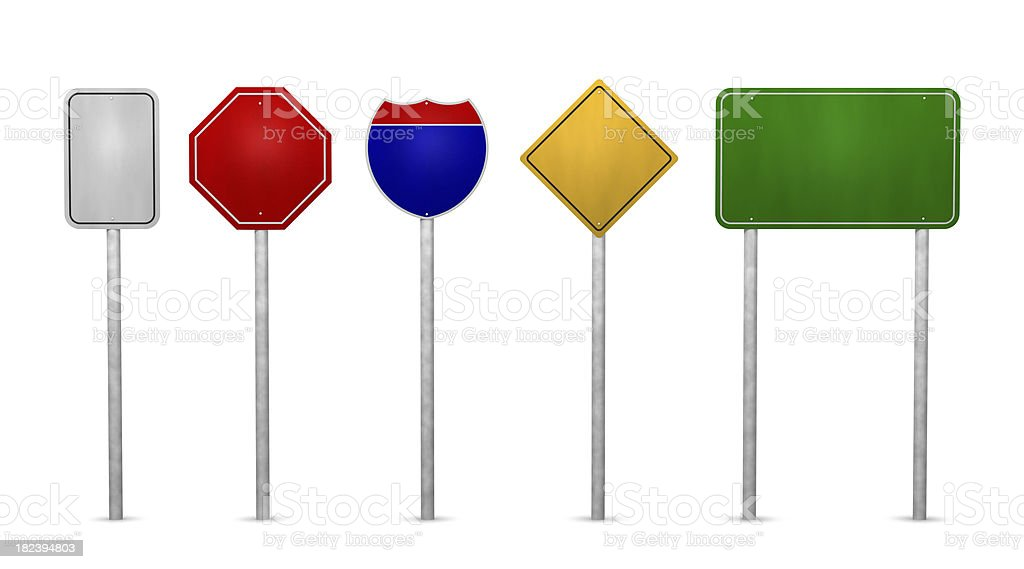 Road signs blank royalty-free stock photo