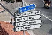 Road Signs in Monaco