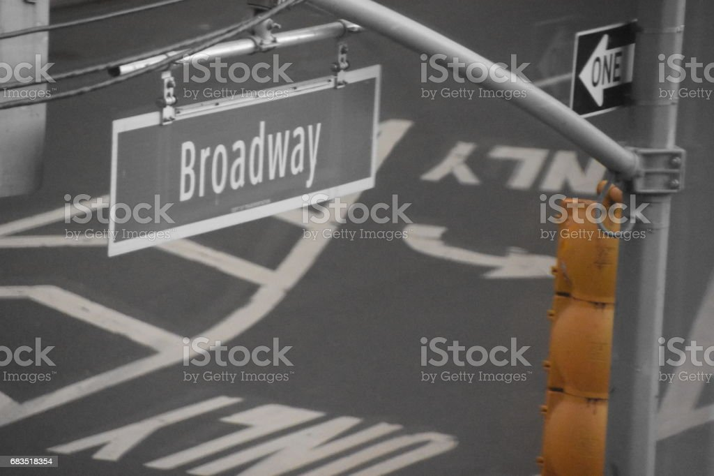 Road signs in New York stock photo