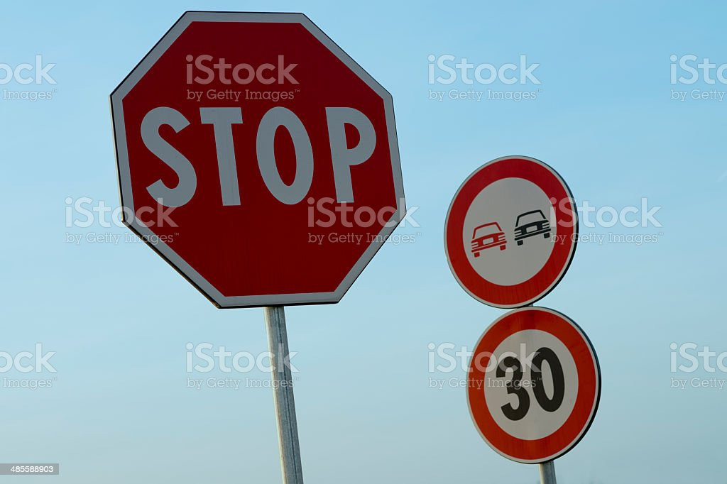 road signs royalty-free stock photo