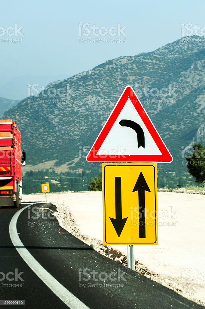 road signs stock photo