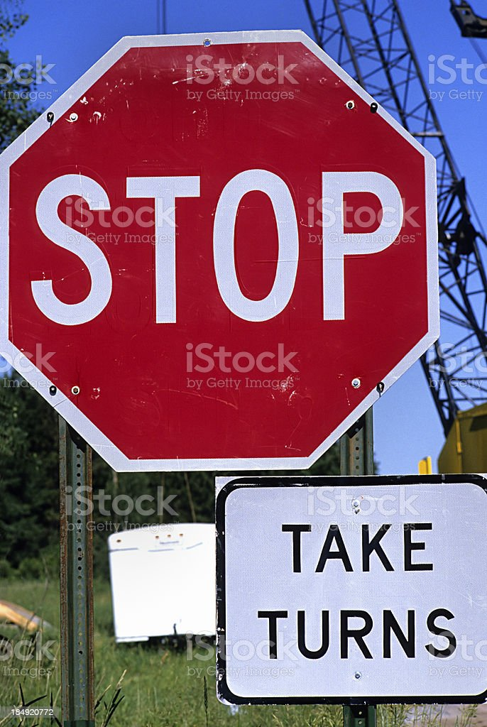 Road signs that teach royalty-free stock photo