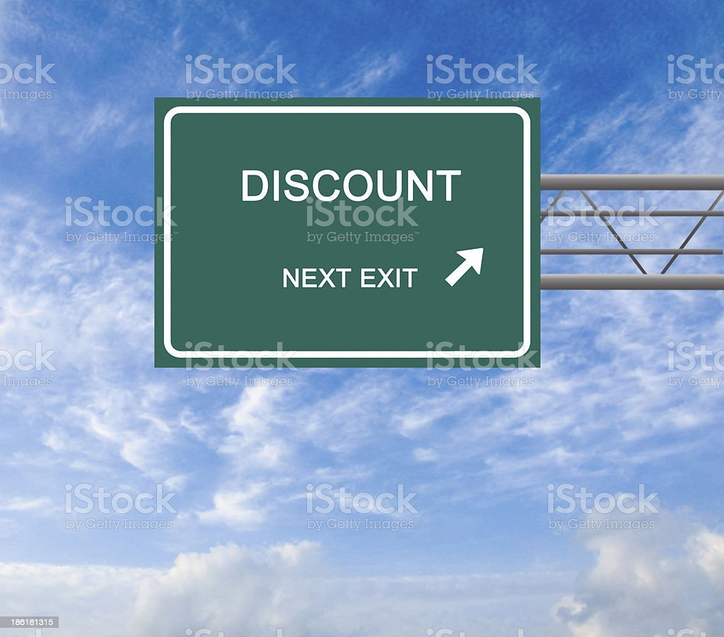 Road signs to  easy street and poverty royalty-free stock photo