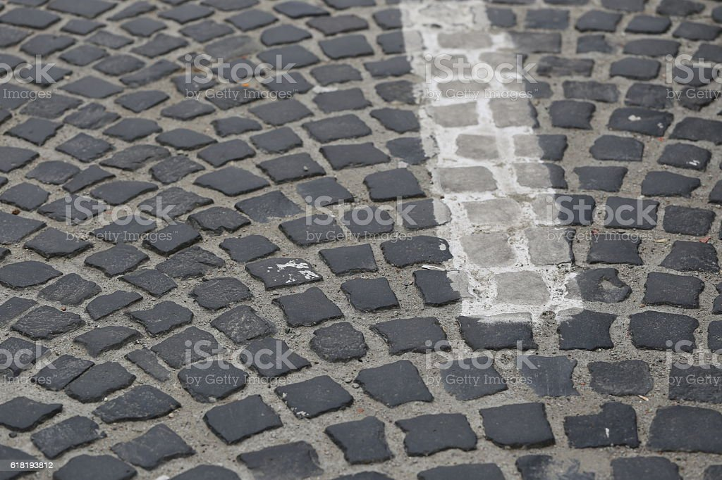 Road Stones, Close Up. stock photo