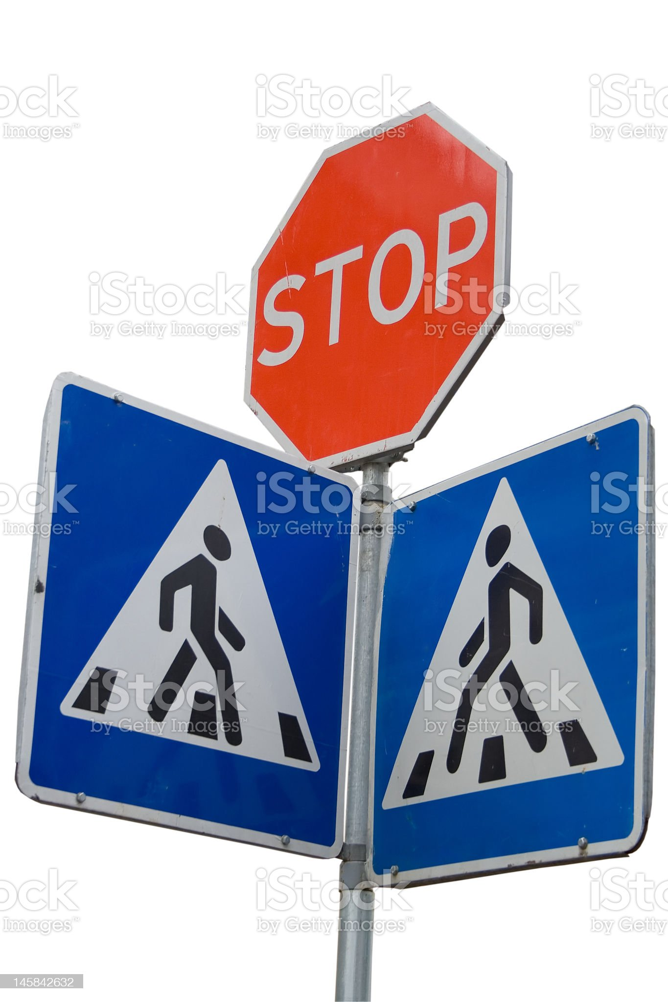 Road stop sign royalty-free stock photo
