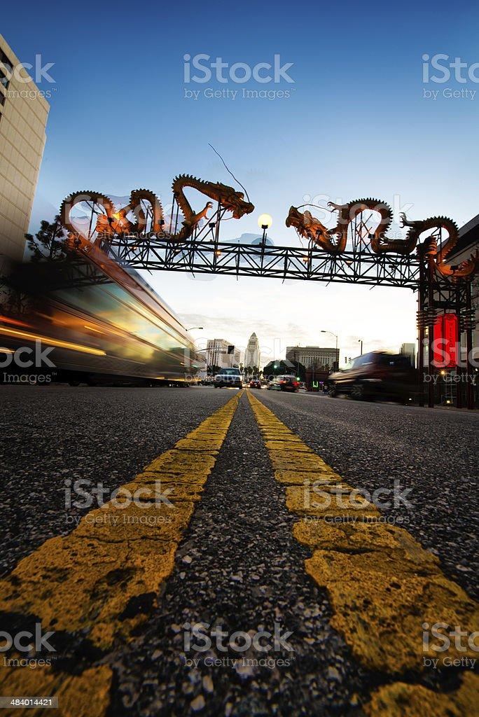 Road stripes royalty-free stock photo