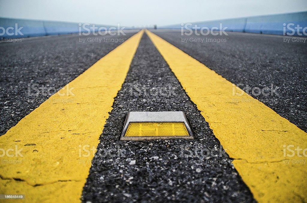 Road stud royalty-free stock photo
