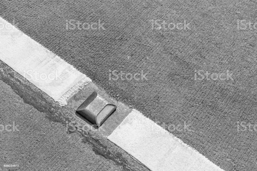 road stud reflector marker stock photo