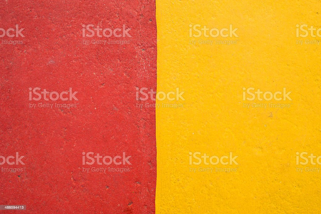 road surface painted in colours red yellow stock photo