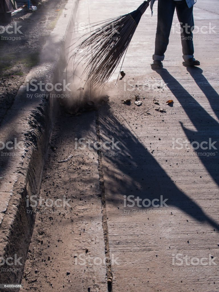 Road Sweeper Cleaning stock photo