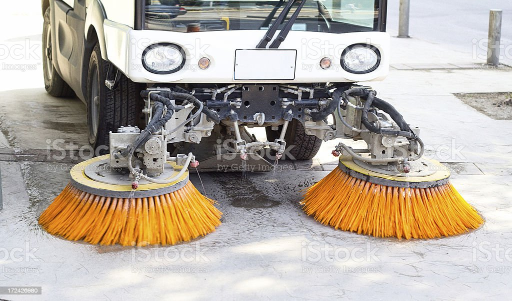Road Sweeping Vehicle stock photo