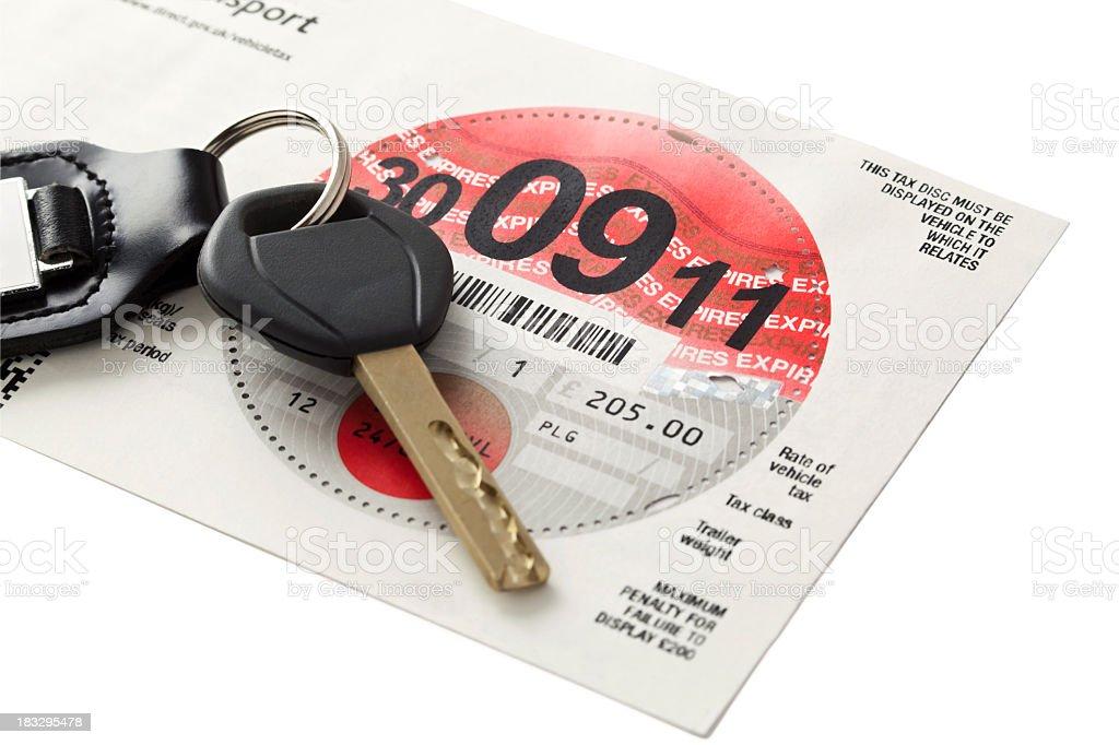UK Road Tax royalty-free stock photo