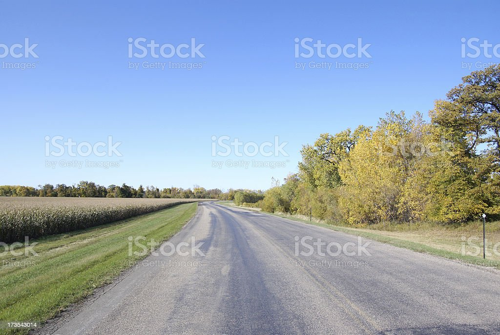 road through autumn  country side royalty-free stock photo