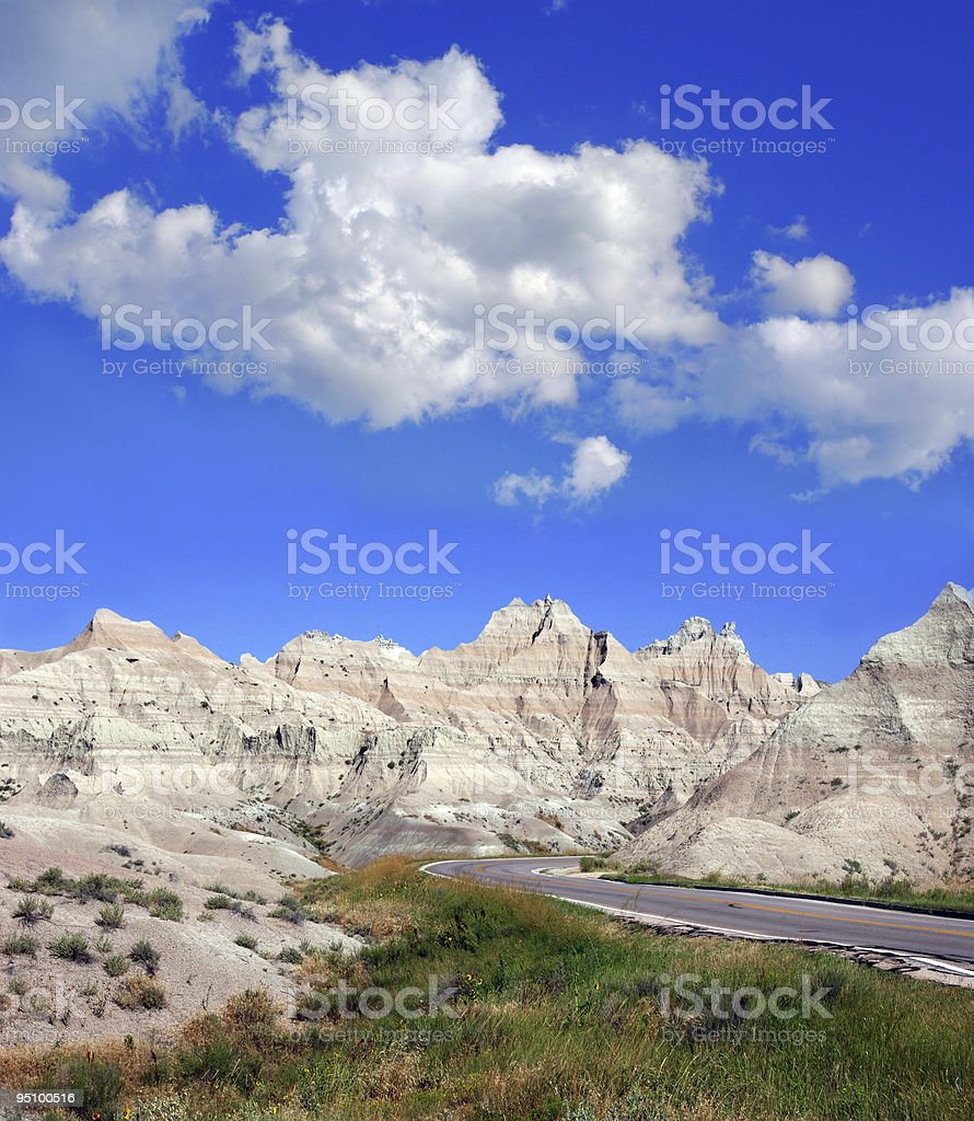 Road Through Badlands National Park royalty-free stock photo
