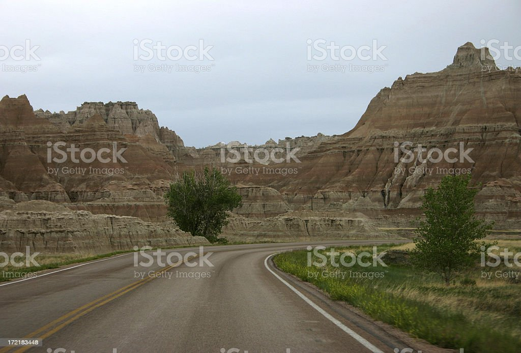 Road Through Badlands NP royalty-free stock photo