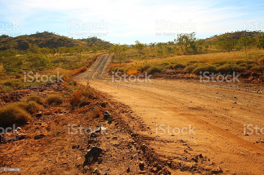 Road through Kimberley, Australia stock photo