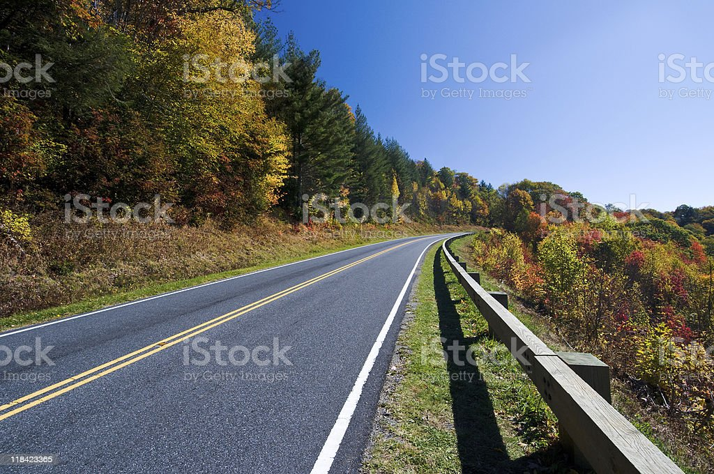 Road through Smoky Mountains National Park royalty-free stock photo