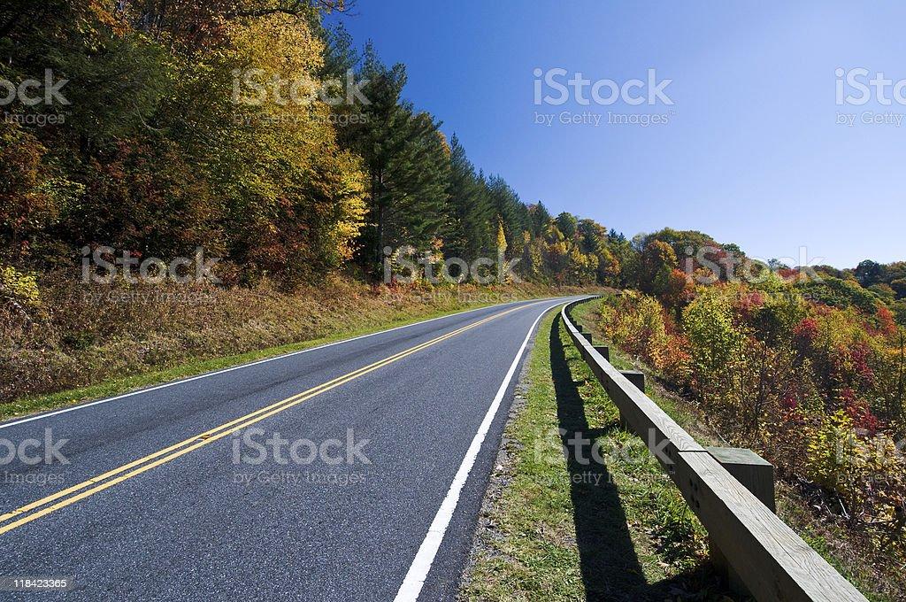 Road through Smoky Mountains National Park stock photo