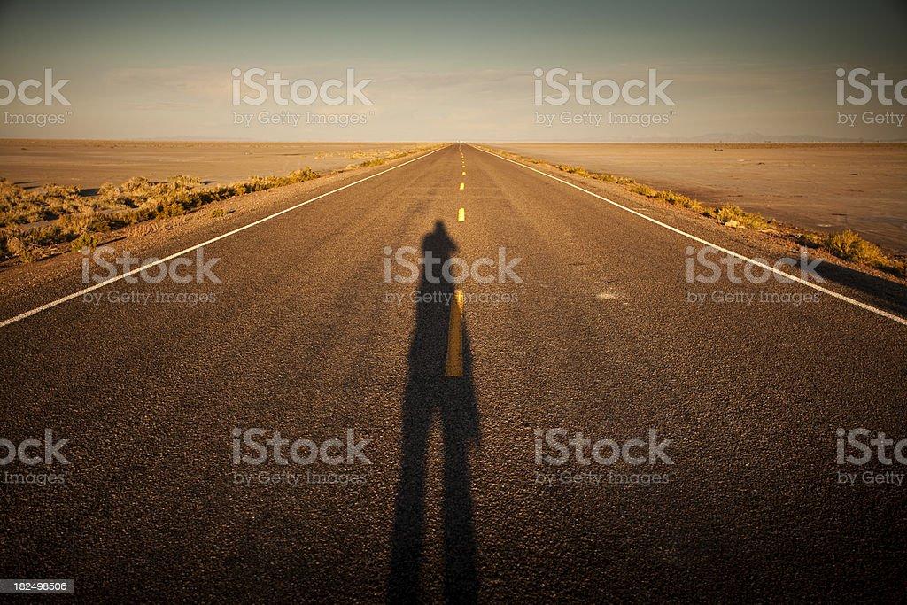 Road through the desert royalty-free stock photo