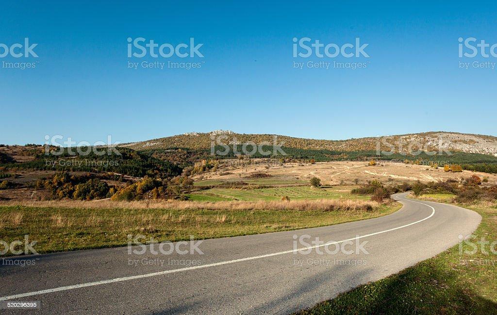 Camino a través de las praderas foto de stock libre de derechos