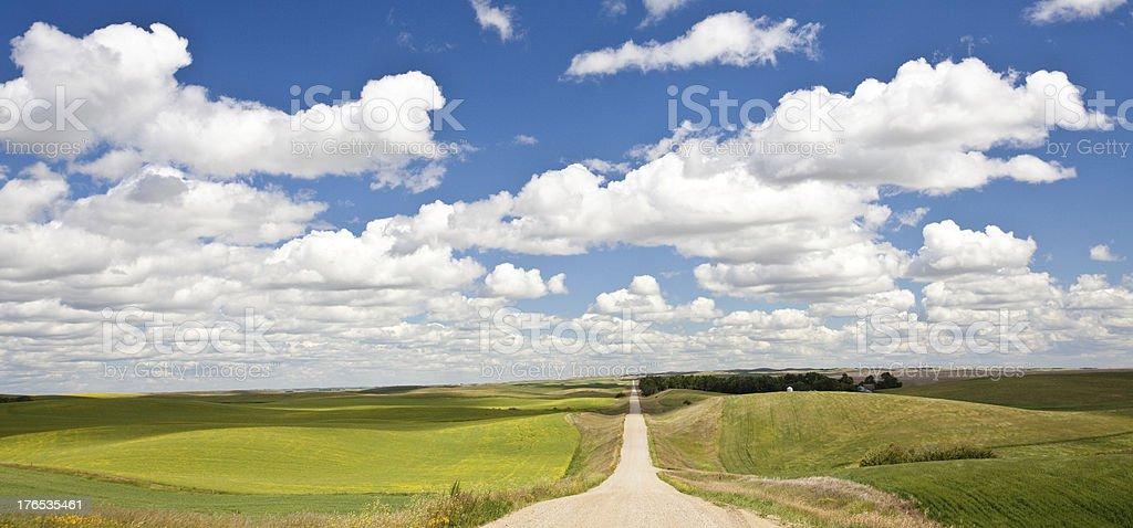 Road Through The Plains royalty-free stock photo